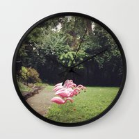 Flamingos Wall Clock
