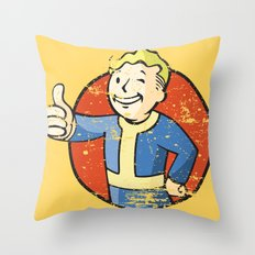 Fallout Vault boy Throw Pillow