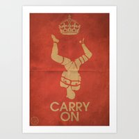 Keep Calm & Carry On BDSM Art Print