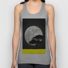 Lone Tree And Moon. Unisex Tank Top