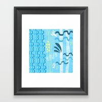 Water rays Framed Art Print