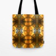 Amber Light Kaleidoscope Tote Bag