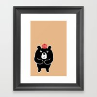 Apple Bear Framed Art Print