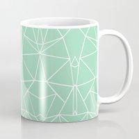 Abstract Mirror Mint Mug