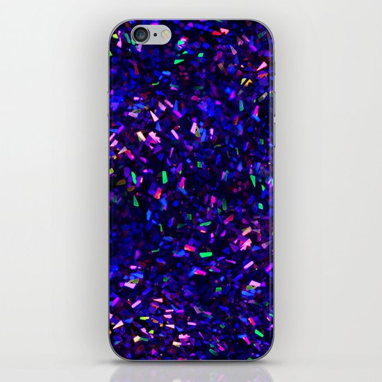 Fascination in blue- photograph of colorful lights iPhone & iPod Skin