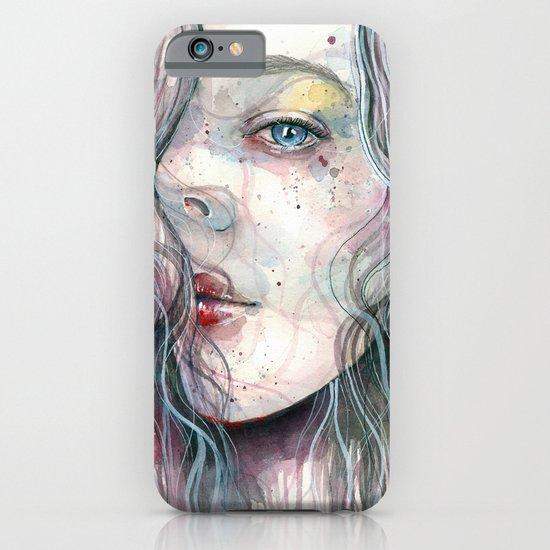 Sleepy violet, watercolor iPhone & iPod Case