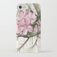 cherry blossom iPhone & iPod Cases featuring Cherry Blossom by Olechka