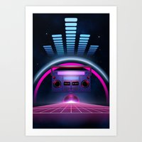 Boombox: Echos Of Tomorr… Art Print