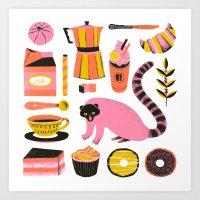 Super Coffee Lovers Set Art Print