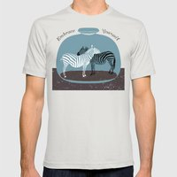 Embrace Yourself Mens Fitted Tee Silver SMALL