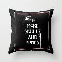 NoMoreSkullz&Bones Throw Pillow
