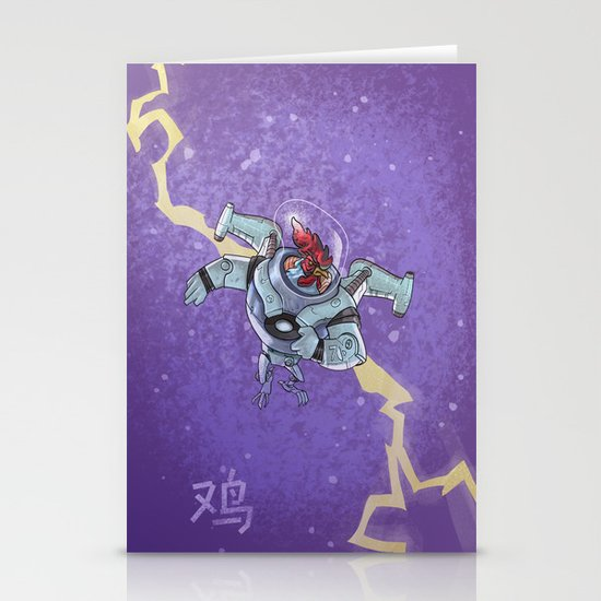 Astro Zodiac Force 10:  Rooster Stationery Card