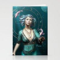 Pisces Zodiac Fantasy Ci… Stationery Cards