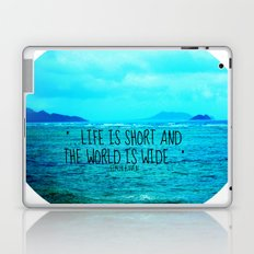 LIFE IS SHORT II  Laptop & iPad Skin