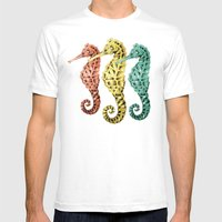 SeaHorses Mens Fitted Tee White SMALL