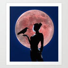 Under the Pale Moonlight Art Print