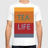 Tea Mens Fitted Tee White SMALL
