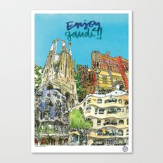 Enjoy Gaudí! Canvas Print