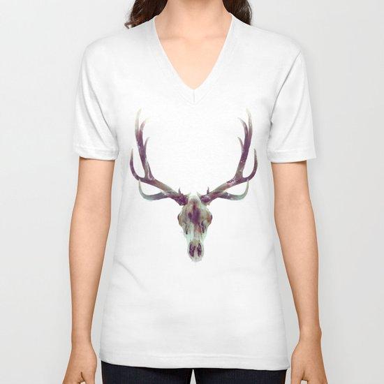 Elk Skull V-neck T-shirt
