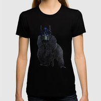 Optimus Primate Womens Fitted Tee Black SMALL