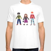 Harry, Hermione, and Ron Mens Fitted Tee White SMALL