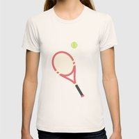#19 Tennis Womens Fitted Tee Natural SMALL