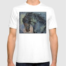 Friesian Stallion Mens Fitted Tee White SMALL