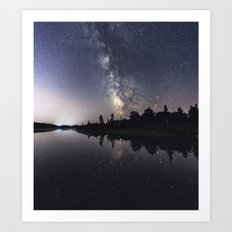 Rotate with the Galaxy Art Print
