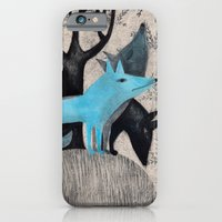 iPhone & iPod Case featuring Beware, rabbit! Three wild dogs.  by Ana Pez