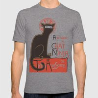 A French Ninja Cat (Le C… Mens Fitted Tee Tri-Grey SMALL