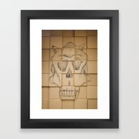 Space in Boxes Framed Art Print