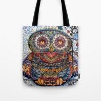 Magic  graphic owl  painting Tote Bag