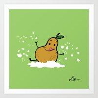 Goat Cheese & Pears Art Print