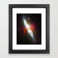 Galaxial Hydrogen Plumes Framed Art Print