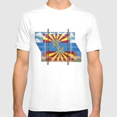 Altered State: AZ SMALL White Mens Fitted Tee