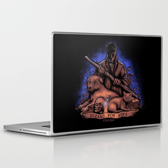 Wizard For Hire Laptop & iPad Skin