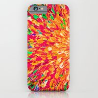 NEON SPLASH - WOW Intense Dash of Cheerful Color, Bold Water Waves Nature Lovers Modern Abstract  iPhone 6 Slim Case