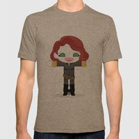 BLACK WIDOW ROBOTIC Mens Fitted Tee Tri-Coffee SMALL