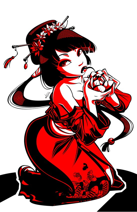Geisha Design Art Print
