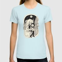 Simon & Marcy  Womens Fitted Tee Light Blue SMALL