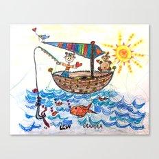 :: Row, Row, Row Your Boat :: Canvas Print