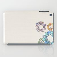 Water-colour Flowers iPad Case