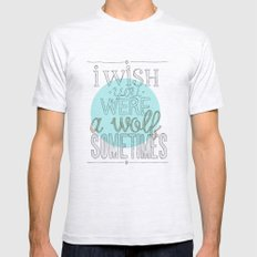 Be a wolf. Mens Fitted Tee Ash Grey SMALL