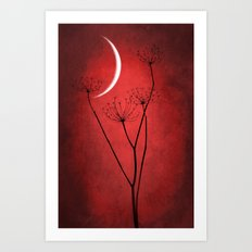 Red Is On Art Print