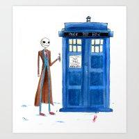 Doctor Wholington, Pumpk… Art Print