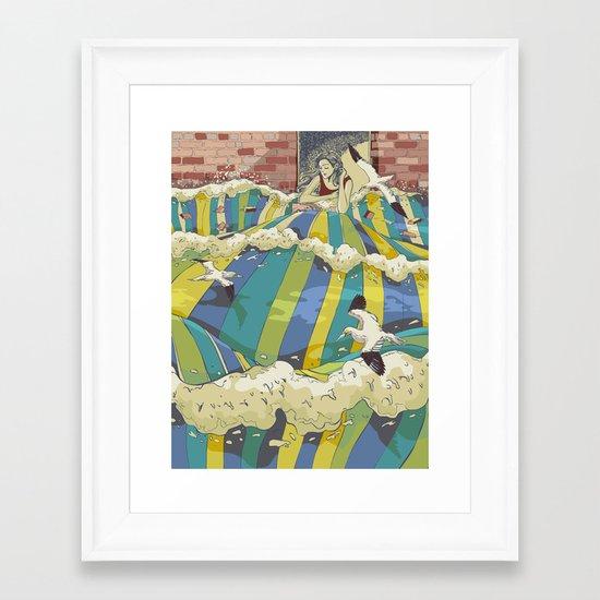 The Losing Wall Framed Art Print