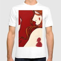 Blood Floor Mens Fitted Tee White SMALL