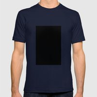 Black #1 (Black) Mens Fitted Tee Navy SMALL
