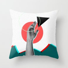 up and out Throw Pillow