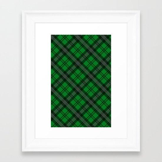 Scottish Plaid (Tartan) - Green Framed Art Print